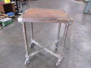 L b Sales Co Steel Industrial Turtle Table With 5 Casters