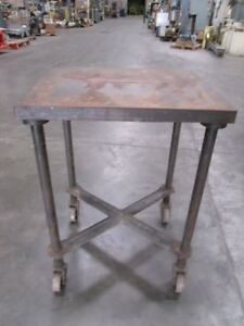 L b Sales Co Steel Industrial Table With 4 Casters Unknown Mfg