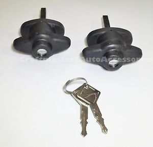 Are Truck Cap Topper Small Win Door Handles 2 Keys Polymer Pair T Ares 2