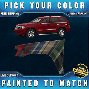 New Painted To Match Drivers Front Left Fender For 2005 2010 Jeep Grand Cherokee