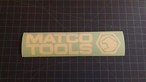 Matco Sticker For Tool Box Or Cart 3 x12 7 Available White And Black Colors