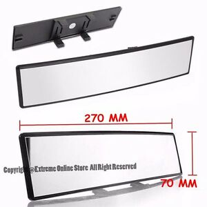 270mm Wide Curve Convex Clear 70mm Height Interior Jdm Clip On Rear View Mirror