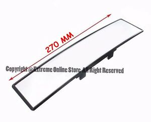 270mm Jdm Panoramic Convex Curve Clear Lens Wide Angle Clip On Rear View Mirror