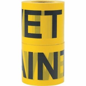 8 Pk Caution Wet Paint Tape 300 X 3