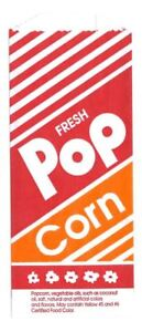 1000 No 4 Printed Popcorn Bags 10 Gold Medal Printed Pop Corn Bags 1 2 Oz