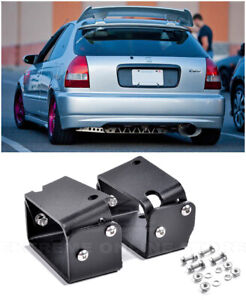 For 96 00 Honda Civic Ej6 Type R Ctr Wing Spoiler Riser Black Alex Tilt Bracket