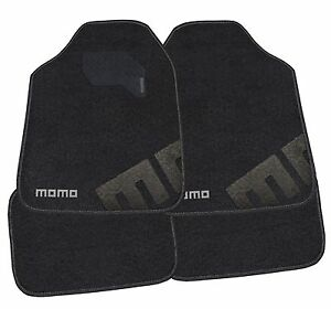 Momo Italy Car Mats Carpet 007 Black Gray