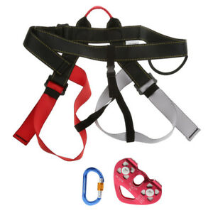 Pro Rope Access Rock Climbing Safety Harness Rope Pulley Carabiner Equipment