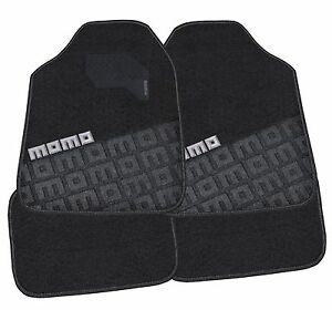 Momo Italy Car Mats Carpet 008 Black Gray