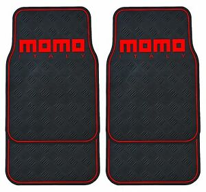 Momo Italy Car Mats Pvc 010 Black Red