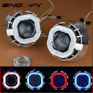 2 5 Hid Bi xenon Projector Lens Dual Angel Eyes Halo For Car Headlight Retrofit