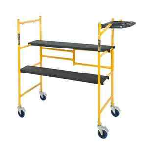Rolling Scaffold Platform Folding Work Bench Ladder Dolly 500 Lb Load Capacity