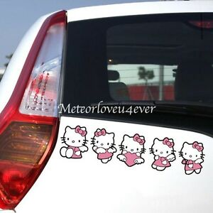 Hello Kitty Group Of Five Cartoon Paperclip Cover Car Decal Decoration Stickers