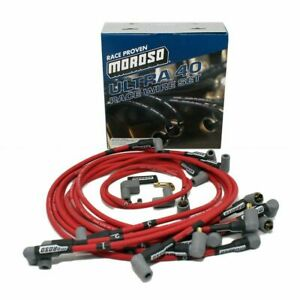 Moroso 73686 Ultra 40 Unsleeved Spark Plug Wire Set Small Block Chevy 8 65mm
