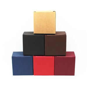 Colors Kraft Paper Gift Boxes Package Wedding Party Favour Candy Jewelry Box