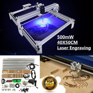 500mw 40x50cm Area Mini Laser Engraving Cutting Machine Printer Kit Desktop