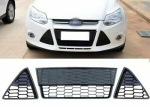 Mesh Spary Painted Honeycombed Nest Bee Grille Kit For Ford Focus 2012 2014
