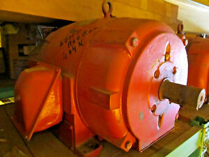 50 Hp Crane Motor Rebuilt Westinghouse Electric Double Shaft