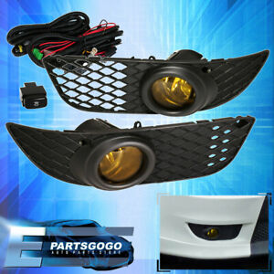 08 2012 Mitsubishi Lancer Amber Fog Driving Light Pair Lh Rh Replacement Upgrade