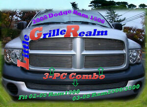 02 03 04 05 2002 2003 2004 2005 Dodge Ram New Body Style Billet Grille 3pc
