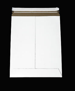 11 X 13 White Paperboard Rigid Mailers Peel Seal Quick Strip Catalog 100 Pack