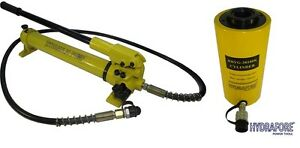 Hydraulic Hand Pump With Single acting Hollow Ram Cylinder 30tons 4