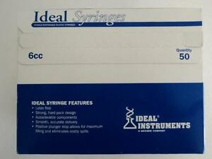 New Ideal 6cc Lver Slip Syringe Box Of 50 Cls06013 8881 a2b