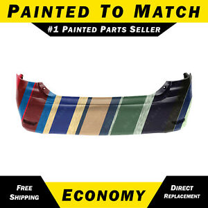New Painted To Match Rear Bumper Cover For 2011 2012 2013 Toyota Corolla Sedan