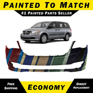 New Painted To Match Front Bumper Cover For 2011 2018 Dodge Grand Caravan Van