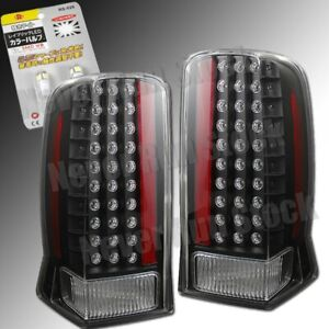 Cadillac Escalade Clear Black Led Tail Lights White Led License Plate Bulbs