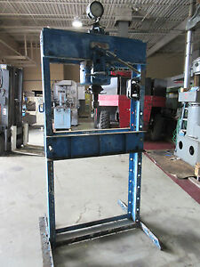 Dake h Frame Hydraulic Shop Press 50 Tons Manual Pump