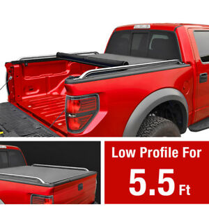 Premium Low Profile Roll Up Tonneau Cover Fits 2007 2019 Toyota Tundra 5 5ft Bed