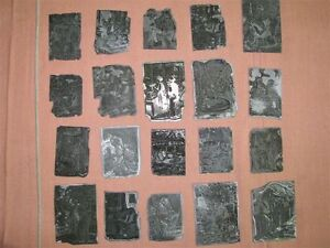 Lot Of 20 1940 s 50 s Letterpress Agricultural Themed Line Art Printing Plates