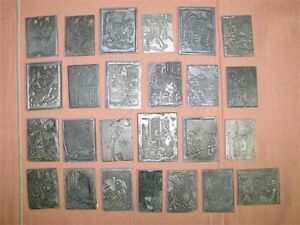 Lot Of 25 1940 s 50 s Letterpress Agricultural Themed Line Art Printing Plates