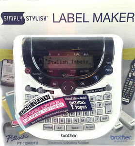 Brother Simply Stylish Label Maker Electronic Labeling System Home Office Files