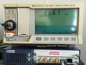 Ando Aq 2105b Optical Power Meter And One Aq 2107 Sensor Plug In