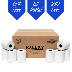 3 1 8 X 230 Thermal Pos Receipt Paper 32 New Rolls Free Shipping