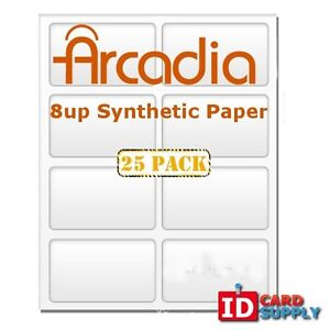 Arcadia Synthetic Paper W 8 up Perforation For Any Home Printer Pack Of 25