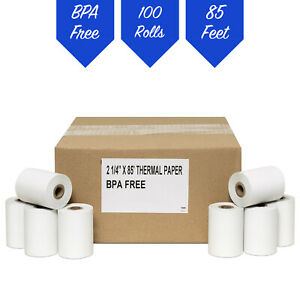 Thermal Paper Rolls For Verifone Credit Card Receipt Printers 2 Cases 100 Rolls