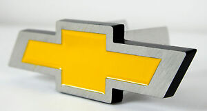 Yellow Chevy Bowtie Logo Trailer Towing Hitch Cover Fits 2 And 1 25 Receivers