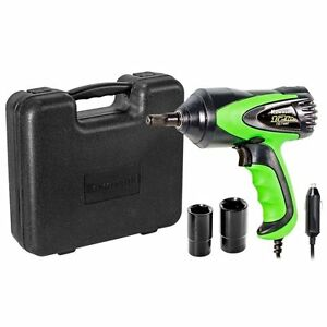 Electric Impact Wrench 1 2 Inch Drive 12v Power Corded Heavy Duty Tire Tool Kit
