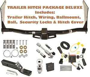 17 18 Ford Escape Trailer Tow Hitch Pkg Wiring Hitch Locks Cover Ball