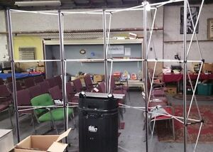 Popup Exhibit Booth Frame Cross Bars 2 Lights Case And Xtra Bars 96 w