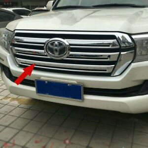 For Toyota Land Cruiser Lc200 2016 2017 Chrome Abs Car Front Grill Grille Trim