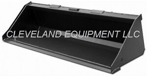 New 60 Low Profile Bucket Skid Steer Loader Attachment Daewoo Hydra Mac Komatsu