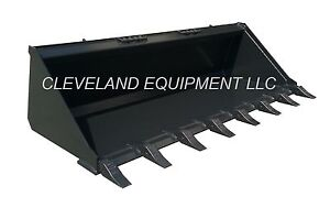 New 72 74 Low Profile Tooth Bucket Skid Steer Loader Attachment Teeth Bobcat 6