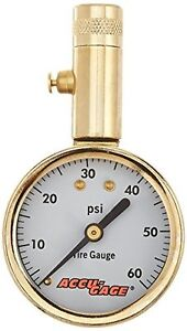Accu gage 60 Psi Dial Tire Gauge