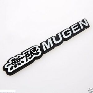 3d Car Trunk Emblem Badge Sticker Decal Mugen For Honda Civic Acura Black