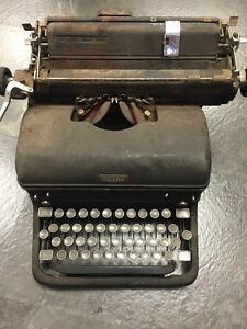 Royal Mm Typewriter Black Selling As Is Potentially Used In Military