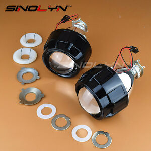 Mini Hid 2 5 Bi xenon Projector Lens Kit Black Shroud Headlight Car Motorcycle
